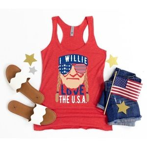 BNWT Willie Nelson 4th July USA Tank